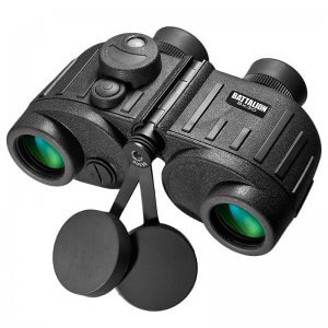 8x30mm WP Battalion Range Finding Reticle Illuminated Compass Binoculars by Barska