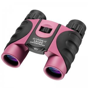 10x25mm Pink Waterproof Compact Binoculars by Barska