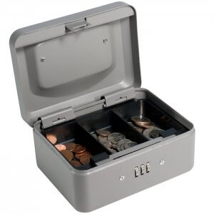 BARSKA Extra Small Cash Box with Combination Lock CB11782