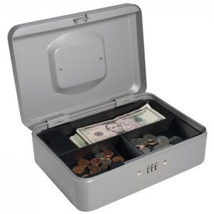 Medium Cash Box with Combination Lock by Barska