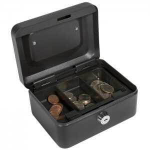 Extra Small Cash Box with Key Lock by Barska