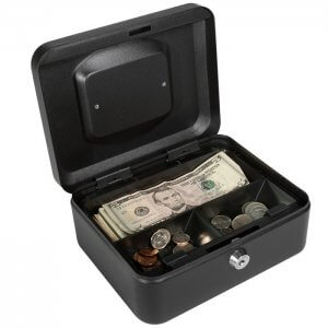 Small Cash Box with Key Lock by Barska