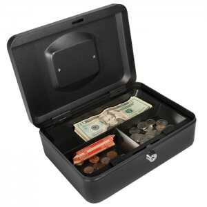 Medium Cash Box with Key Lock by Barska