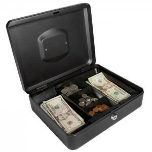 Large Cash Box with Key Lock by Barska