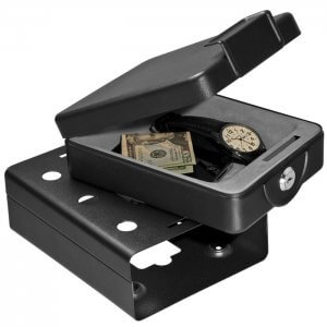 Compact Key Lock Safe with Mounting Sleeve
