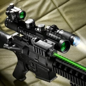 1-3x30mm IR Sight, Green Laser, Light Ultimate Combo By Barska