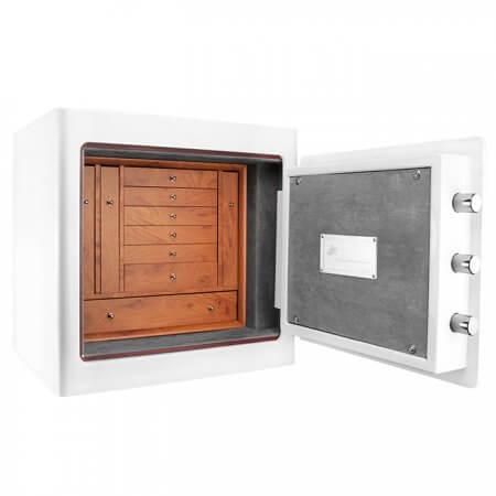 White Keypad Jewelry Safe Light Interior