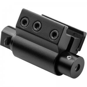 Red Laser Pistol / Rifle Sight with Picatinny Style Compact Weaver Style Rail By Barska