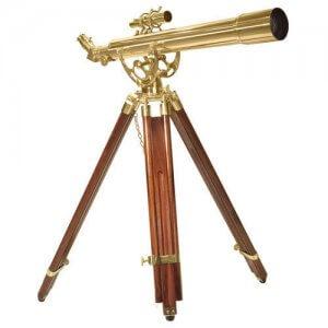 70060 28 Power Anchormaster Classic Brass Telescope w/ Mahogany Tripod By Barska