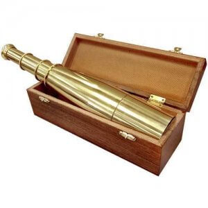 18x50mm Collapsible Anchormaster Classic Brass Spyscope by Barska