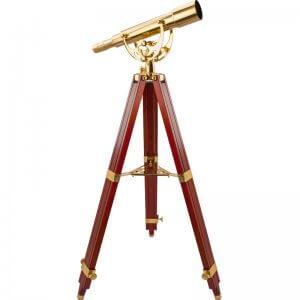 BARSKA 15-45x 50mm Anchormaster Classic Brass Spyscope w/ Mahogany Tripod