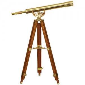 32x80mm Anchormaster classic Brass Telescope Mahogany Tripod by Barska