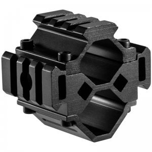 Double Shotgun Barrel Mount - Tri-Rail - 3 Sections