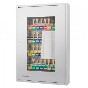 50 Position Portable Key Cabinet with Glass Door By Barska