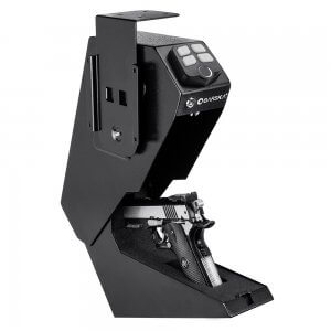 Quick Access Biometric Handgun Desk Safe by Barska