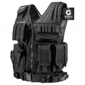 Loaded Gear VX-200 Left Handed Tactical Vest, Black