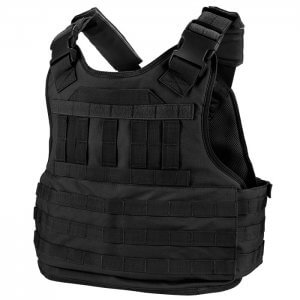 VX-500 Plate Carrier Vest with Mag and Medical Pouch (Black)