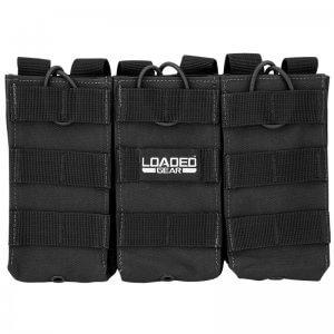 Loaded Gear CX-200 Triple Magazine Pouch (Black) By Barska