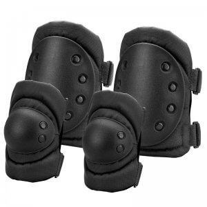 Loaded Gear CX-400 Elbow and Knee Pads (Black) By Barska