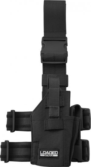 Loaded Gear CX-500 Drop Leg Handgun Holder By Barska