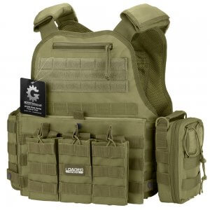 VX-500 Combo Plate Carrier Vest with Mag and Medical Pouch (OD Green)