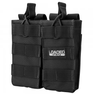 Loaded Gear CX-850 Double Magazine Pouch (Black) By Barska