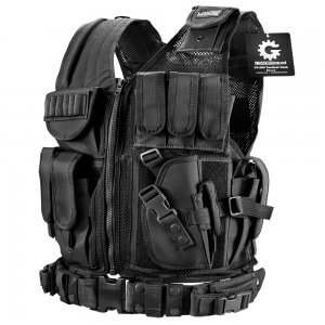Loaded Gear Tactical Vest VX-200 Plus Size (Black) Right Hand