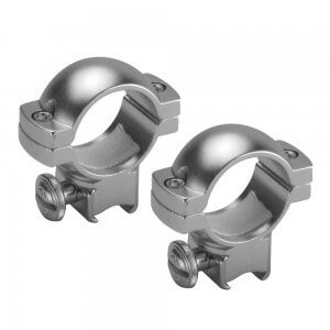 "1"" Medium Dovetail Style Rings, Silver, by Barska"