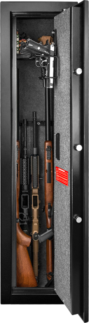 Large biometric rifle safe